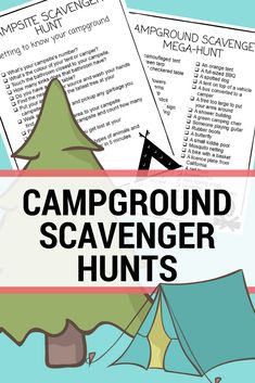 Try a printable campground scavenger hunt for your next family camp out.  outdoor activity ideas | #printables #campingwithkids #scavengerhunt #outdooractivities #takethemoutside