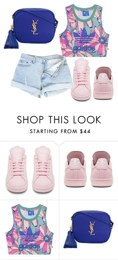 """""""Flex In Your Adidas"""" by clippedkino ❤ liked on Polyvore featuring adidas, adidas Originals and Yves Saint Laurent"""