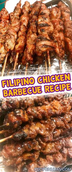 grilling recipes (Updated) This Chicken Barbecue recipe is a Filipino version which is on the sweeter side as compared to other chicken barbecue recipes. The fondness of Filipinos to grilling or cooking over hot charcoals is so evident. Filipino Chicken Barbecue Recipe, Barbecue Chicken, Barbecue Recipes, Grilling Recipes, Cooking Recipes, Grill Barbecue, Bbq Chicken Side Dishes, Vegetarian Grilling, Summer Barbeque