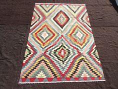 "Turkish Kilim Rug,6""x8,8"" Feet 184x265 Cm Traditional Flat Weave Woven Kilim Rug,Vintage Home Floor Decor Pastel Turkish Kilim Rug,"