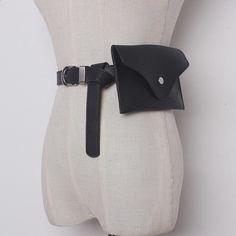 -Solid Color Black Camel PU Leather Belt Women Fashion Tide All-match New Fashion, Korean Fashion, Womens Fashion, Leather Belts, Pu Leather, Black Camel, Red Black, Color Black, Casual Bags
