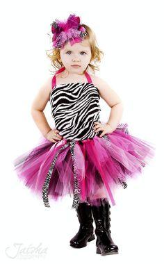 Posh Little Tutus So Posh Zebra Hot Pink Ribbon Girls Tutu