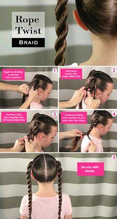 How to make a Rope Twist Braid