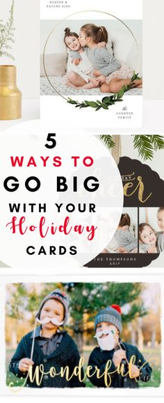 Making holiday cards are so fun, and i'm totally inspired to go big this year!