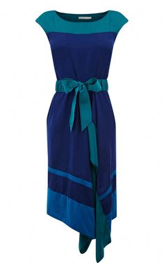 49e45e6b35 House Of Fraser Pretty Karen Millen DN053 Draped dress turquoise  Designer