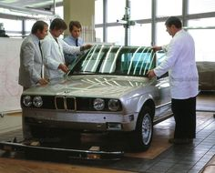 OG | 1982 BMW 3 Series - E30 | Claus Luthe (left) with a full-size mock-up