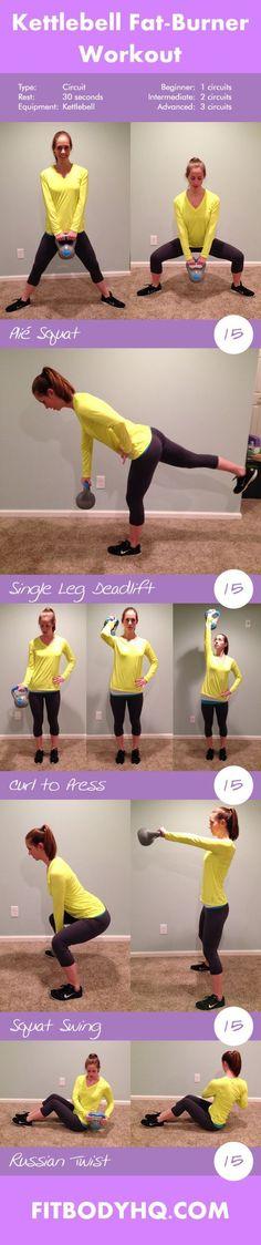 Kettlebell Fat-Burner Workout | FitBodyHQKettlebell Fat-Burner Workout | FitBodyHQ