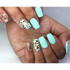 Mint Green And Rose Gold  by MargaritasNailz from Nail Art Gallery
