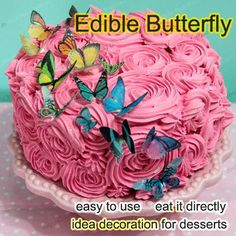 Edible butterflies for edible butterfly cake decorations,edible paper for cake decoration,wholesale price Cooking Games For Kids, Cooking For A Crowd, Cooking On A Budget, Budget Meals, Cooking Spaghetti Squash, Cooking Oatmeal, Cooking Beets, Cooking Ham, Cooking Measurements