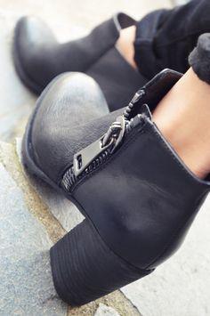 Leather block heeled ankle boots by 'ALDO'. Check out the blog for more details on this and 2 other booties!:)