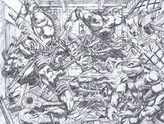 TMNT vs Shredder by emilcabaltierra.deviantart.com on @deviantART