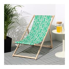 IKEA MYSINGSÖ beach chair Easy to keep clean as the fabric can be removed and washed.