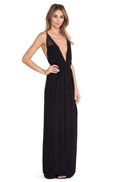 Indah X REVOLVE Isla Maxi Dress in Black & Crochet