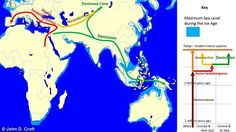 The new study has helped to shed new light on how early humans spread around the world. The image above shows where DNA evidence has suggested Denisovans, or Homo sapiens carrying Denisovan DNA have been found