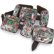 Multi colored concho belt