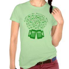 St. Patrick's Day Irish Green Beer Shamrock T-Shirt @zazzle