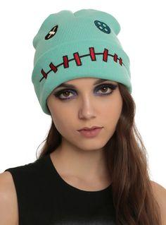 NEW Disney Lilo and Stitch SCRUMP Doll Watchman Knit Beanie Hat Cap  Disney   Beanie 6696cecc9e2