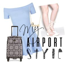 """""""Airport style"""" by tally-stew ❤ liked on Polyvore featuring New Look, Vera Bradley, Sydney Evan, GetTheLook and airportstyle"""