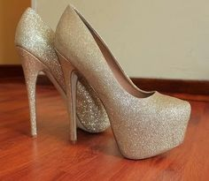 adorable sequin high heel shoes fashion