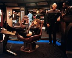 Troi may actually be better at chair slouching than Bones!!