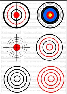 Top right and Middle left. Pistol Targets, Rifle Targets, Archery Targets, Paper Targets, Shooting Range, Shooting Club, Deer Hunting Blinds, Shooting Targets, Target Practice