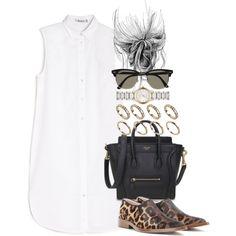 Look verão , simples e cheio de estilo .Vestido camisa (super tendência ) , mini bag e sapato de oncinha.