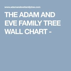 THE ADAM AND EVE FAMILY TREE WALL CHART -