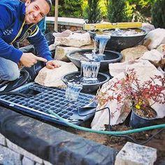 * Csináld magad kertépítés *: Kertépítés ötletek Picnic Blanket, Outdoor Blanket, Outdoor Furniture Sets, Outdoor Decor, Land Scape, Design, Porches, Garden, Courtyards