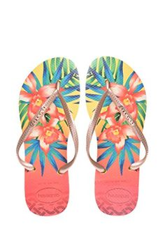 105c889485da8 Havaianas Womens Flip Flops Slim Tropical Sexy Sandals Many Colors Any Size  3738 BR 78 BM