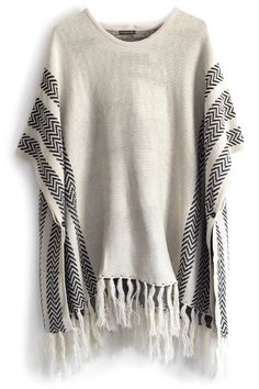 Ponchos - We are doing it! Add a big necklace and a wide brim hat to really nail the 70's trend this Fall.