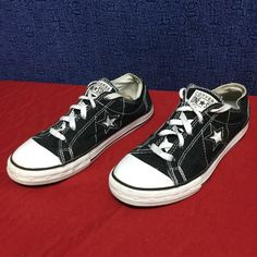 CONVERSE ONE STAR . Black OX . w7 m5 eu37.5 Minimal wear . . YOURS! Converse Shoes Sandals