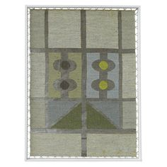 50s Hand Woven Finnish Wall Hanging by Maija Kolsi-Mäkelä | From a unique collection of antique and modern tapestries at http://www.1stdibs.com/furniture/wall-decorations/tapestry/