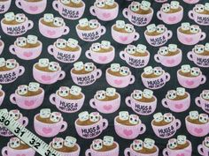 Quilters fabric cup hot chocolate marshmallow hug cotton print quilt sewing material to sew by the yard BTY crafting hot cocoa by ConniesQuiltFabrics from ConniesQuiltFabric. Find it now at http://ift.tt/2mXHqMr! http://ift.tt/24HwgZX.