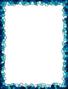 Free Mosaic Border   DESCRIPTION Blue mosaic border. The border is sized to work with 8.5 x 11 paper (letter size).  FREE VERSION  Download a zip file containing GIF, JPG, PDF, and PNG versions of the border with a watermark.  *If you prefer a border without the watermark or need a vector graphic, a premium version is available for only $0.99. It includes all of the above files without a watermark and adds AI and EPS vector files.     INSTRUCTIONS You will need to unzip the files for the…