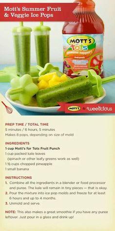 Fruit and veggie freezerpops