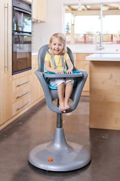 Project Nursery Gift Guide for Baby: FLAIR Pedestal High Chair by @booninc - The FLAIR high chair from boon first caught our eye with its modern and sleek look but officially won our hearts for its ability to handle the messiest of babies! The one-piece seat has no cracks and crevices—therefore no crumbs can fall and gather in the seat! The seat is adjustable and the tray is dishwasher safe!