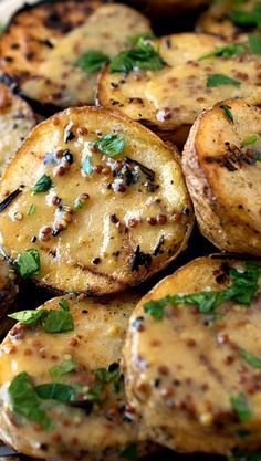 Grilled Yellow Potatoes with Mustard Sauce Recipe