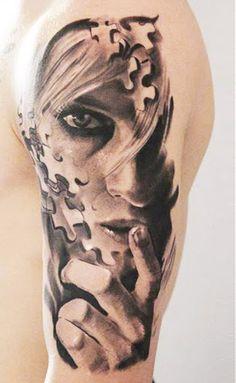 Realism Face Tattoo by Robert Zyla