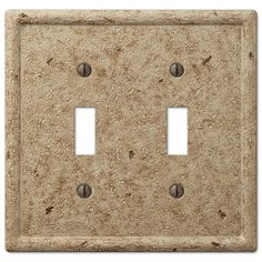 Faux Stone Noce Resin - 2 Toggle Wallplate