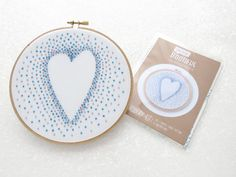 Blue Heart Embroidery Pattern Beginners Hand Embroidery Kit Needlecraft Printed Fabric DIY Valentines Gift Anniversary Hoop Art Nursery by OhSewBootiful #embroidery #etsy #etsyuk #gifts #giftsforher #homedecor #hoopart #fiberart #handembroidery #handmade #ohsewbootiful