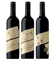 You'll love these 30 sweet wine bottle label designs, even if you're not an oenophile. Check out these wine label bottle designs for your own inpspiration. Beverage Packaging, Bottle Packaging, Coffee Packaging, Food Packaging, Wine Label Design, Bottle Design, Logo Label, Wine Brands, Wine Bottle Labels