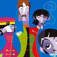 Chicquero Blog > Pablo Lobato graphic design illustration - the beatles