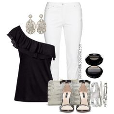 "#plus #size #plussize  ""Plus Size - Black & White"" by alexawebb on Polyvore"