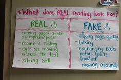 Real reading vs fake