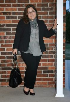 black suit, curvy and petite style, fashion, houndstooth, fall fashion, The Limited