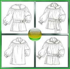 McCalls 4862 Renaissance Poet / Pirate Shirt SCA LARP