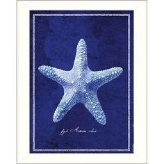 The Craft Room Starfish by GI Artlab Framed Graphic Art