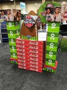 Coca-Cola NFL Free Standing Unit - Looking to get noticed with your point of sale display in a busy, fast-paced retail environment? Increase confidence in your sales with www.popthis.com.au