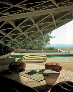 House for Mr and Mrs Paul Sheats, Los Angeles, California, 1963. Remodelled for Mr Jim Goldstein, 1989.