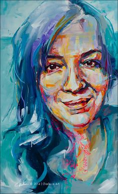 """SELFIE"" Acrylics on Canvas, Canadian Artist: Charla Maarschalk, www.charla.ca Portrait Acrylic, Portrait Art, Portraits, Watercolor Face, Mixed Media Artwork, Canadian Artists, Acrylic Colors, Abstract Photography, Face Art"